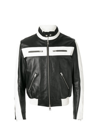AMI Alexandre Mattiussi Bicolor Zipped Jacket With Patch Ami Paris On The Back