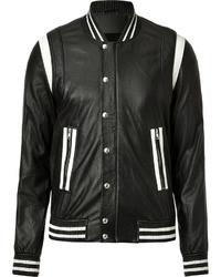 Leather bomber jacket medium 23338