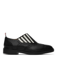 Thom Browne Black 4 Bar Slip On Chelsea Loafers