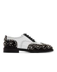 Burberry Black And White Lennard Cry Brogues