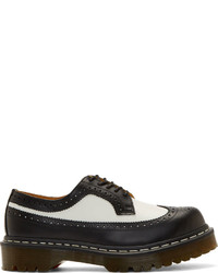 Black white leather 5 eye longwing brogues medium 130503