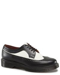 Dr. Martens Brogue Shoe Smooth Black White
