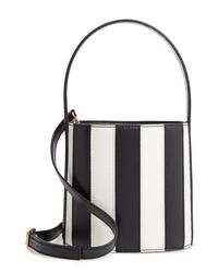 Staud Bissett Stripe Leather Bucket Bag