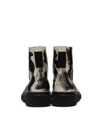 Études Black And Off White Adieu Edition Type 129 Paint Boots