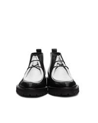 AMI Alexandre Mattiussi Black And White Laced Boots