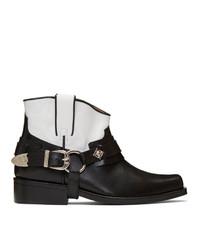 Toga Virilis Black And White Leather Boots