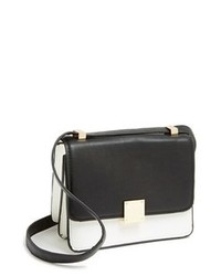 Black and White Leather Crossbody Bag