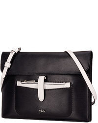 Lauren Ralph Lauren Davenport Leather Flat Crossbody Bag