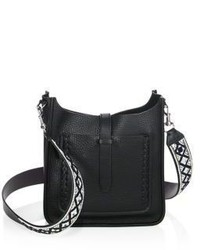 Rebecca Minkoff Small Unlined Feed Leather Crossbody Bag With Guitar Strap