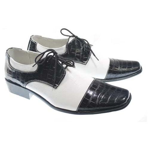black and white leather derby shoes redskytrader gangster