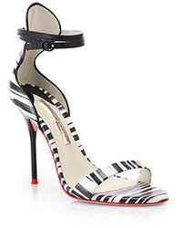 Webster Sophia Nicole Striped Leather Sandals