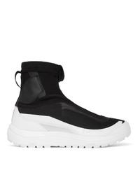 11 By Boris Bidjan Saberi Black Salomon Edition Bamba 2 High Top Sneakers