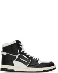 Amiri Black White Skel Top Hi Sneakers