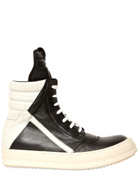 Rick owens 20mm leather high top sneakers medium 846555