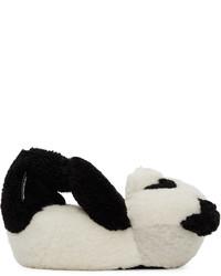 Vetements Black White Panda Teddy Loafers
