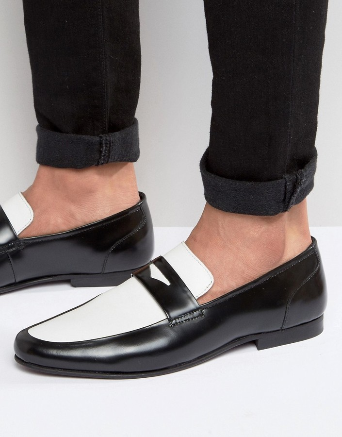 Asos Loafers In Black Leather, $61