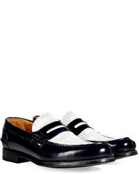 Paul Smith Shoes Leather Two Tone Penny Loafers