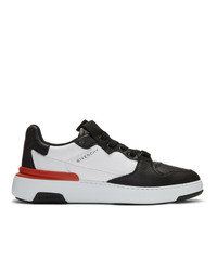 Givenchy Black And White Wing Low Sneakers