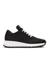 Prada Black Nylon Leather Prax 01 Sneakers