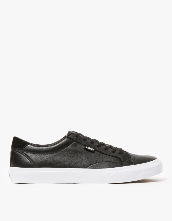Vans Court In Black Leather, $75   Need