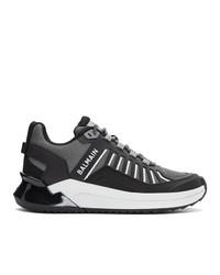 Balmain Grey B Trail Sneakers