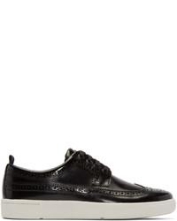 Jeans black leather harkin low top sneakers medium 447463