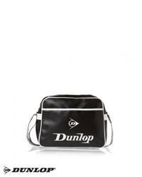 Black and White Leather Messenger Bag
