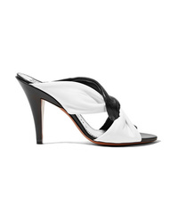Givenchy Knotted Two Tone Leather Mules