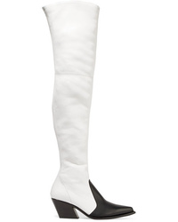 Givenchy Two Tone Leather Over The Knee Boots