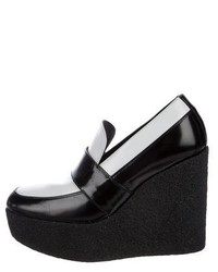 Celine Cline Leather Platform Loafers