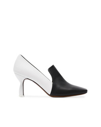 Neous Black And White Rid 50 Leather Pumps