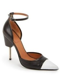 Givenchy Phara Cutout Side Two Tone Leather Pumps