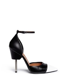 Givenchy Screw Heel Contrast Toe Leather Pumps