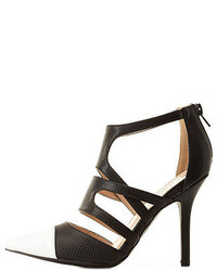 Charlotte Russe Strappy Cap Toe Pointed Pumps