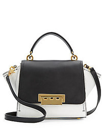 Eartha mini colorblock embossed leather satchel medium 204317