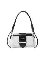 Prada Sidonie Two Tone Leather Shoulder Bag