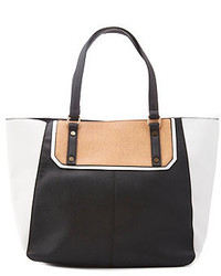 Charlotte Russe Color Block Faux Leather Tote Bag