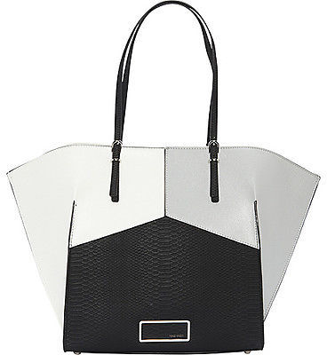 Nine West Handbags Helena Large Tote Colorblock 1 Colors Faux Leather Bag New