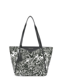 038bea10cc044f Women's Black and White Leather Tote Bags by MICHAEL Michael Kors ...
