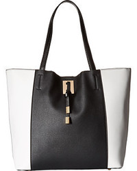 Tania tote with faux strap closure medium 972311