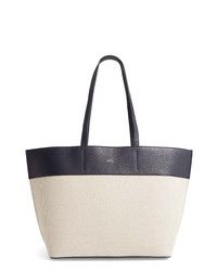 A.P.C. Totally Leather Canvas Tote Bag