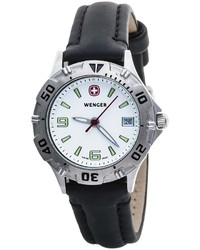Wenger Brigade Small Dial Watch Leather Strap