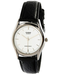 Casio Mtp1094e 7a Black Leather Analog Watch
