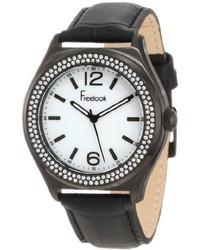 Freelook Ha1213b 9 Blackwhite Swarovski Leather Watch