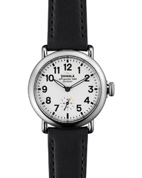 Shinola Runwell Watch With Black Leather Strap 36mm