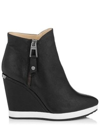 Jimmy Choo Parole Soft Calf Leather Wedged Ankle Boot