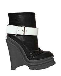 Kenzo 150mm Brushed Leather Wedged Ankle Boots