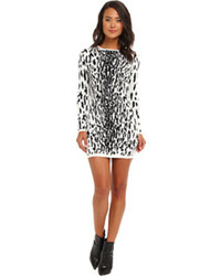 Bardot snow leopard dress medium 103103