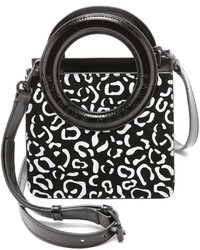 Rubberized leopard suede lynx cross body bag medium 411465