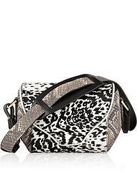 Newbark Newbark Angie Leopard Print Calf Hair Shoulder Bag